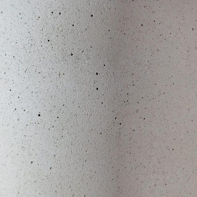 Aufnahme der Oberfläche einer Betonleuchte